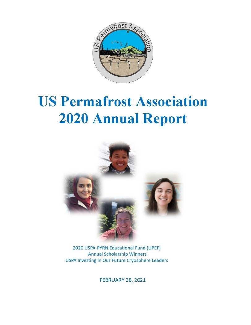 Front page of the US Permafrost Association 2020 Annual Report