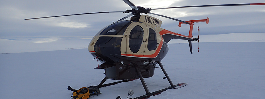 Helicopter drops off NGEE Arctic scientists